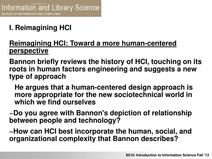 I reimagining hci