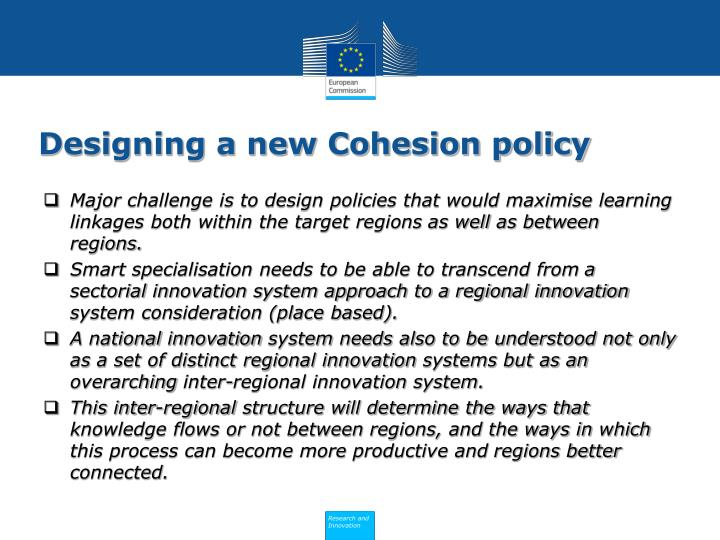 Designing a new Cohesion policy