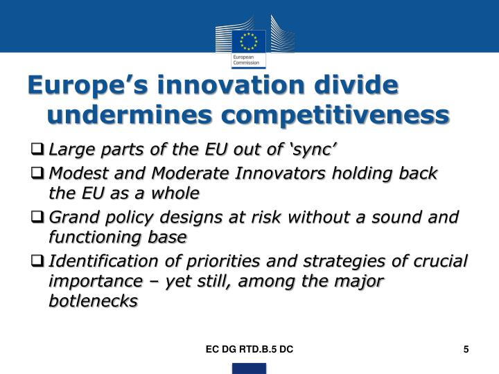 Europe's innovation divide undermines competitiveness