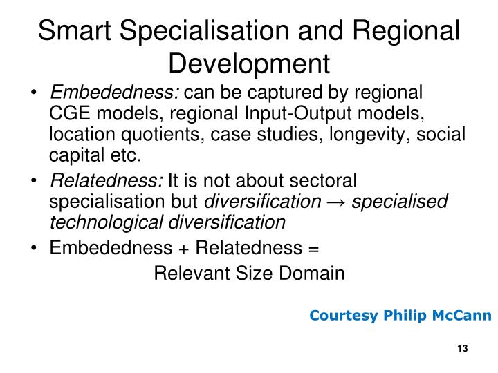 Smart Specialisation and Regional Development