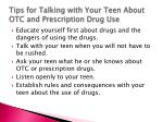 tips for talking with your teen about otc and prescription drug use