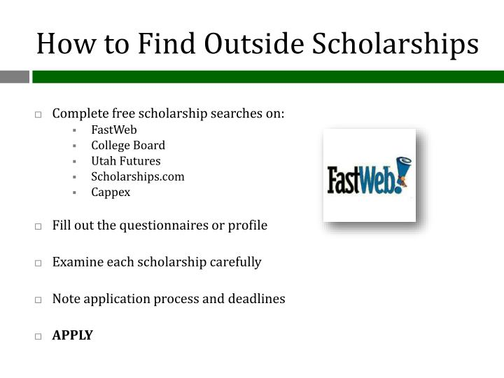 How to Find Outside Scholarships