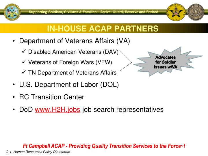 IN-HOUSE ACAP PARTNERS
