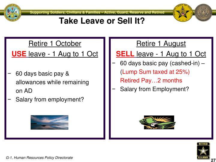 Retire 1 October