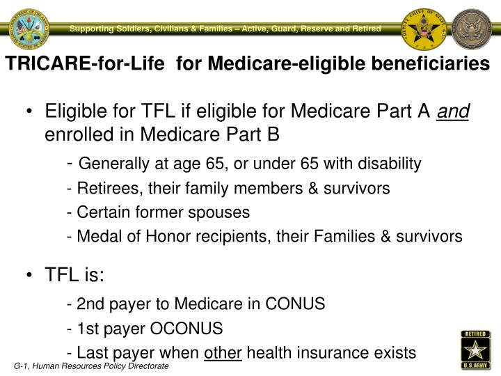 TRICARE-for-Life  for Medicare-eligible beneficiaries