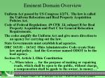 eminent domain overview