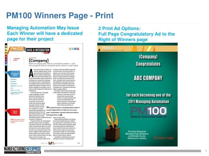 PM100 Winners Page - Print