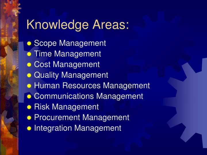 Knowledge Areas: