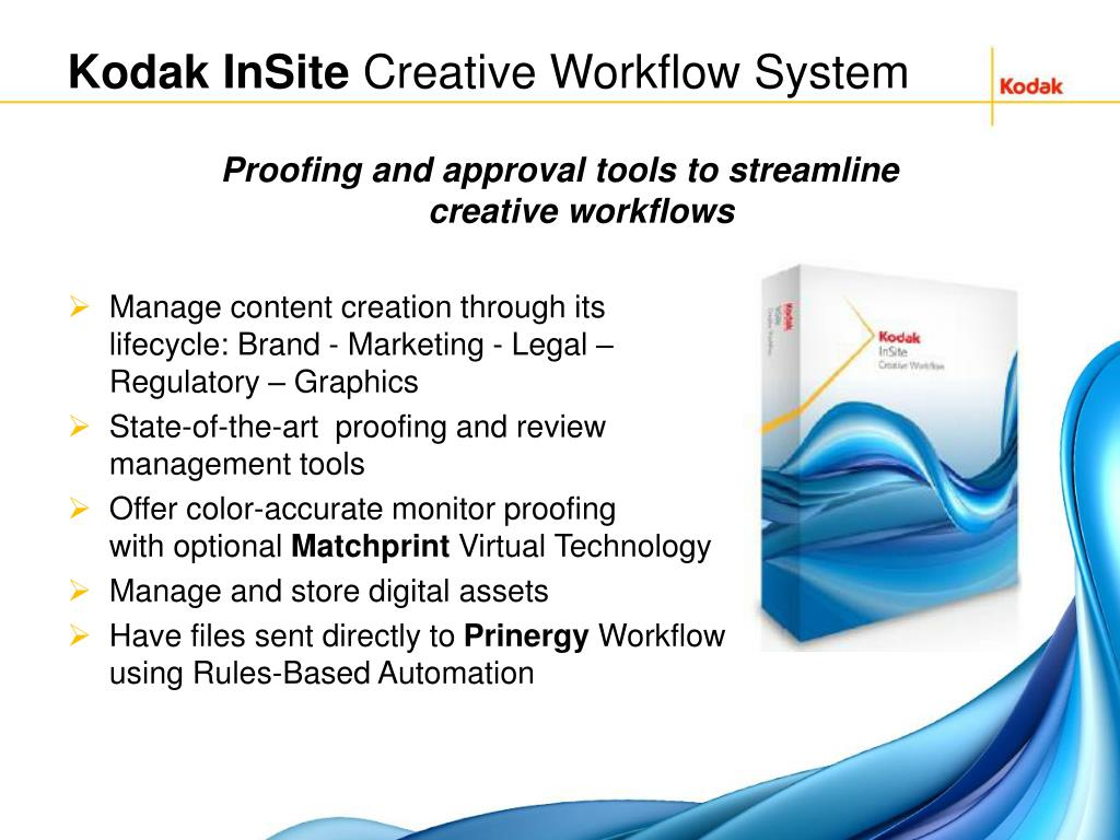 PPT - KODAK INSITE Prepress Portal Overview & Demo