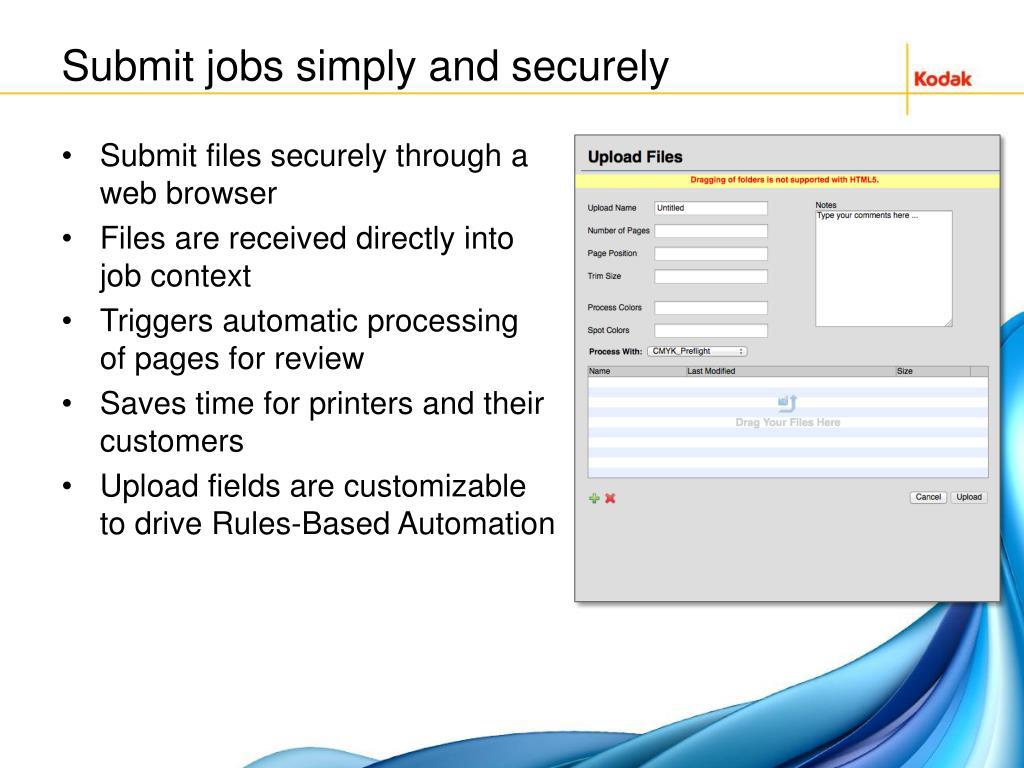 PPT - KODAK INSITE Prepress Portal Overview & Demo PowerPoint