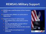 remsa s military support