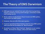 the theory of ems darwinism1
