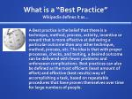 what is a best practice wikipedia defines it as