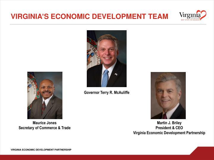 Virginia's Economic Development Team