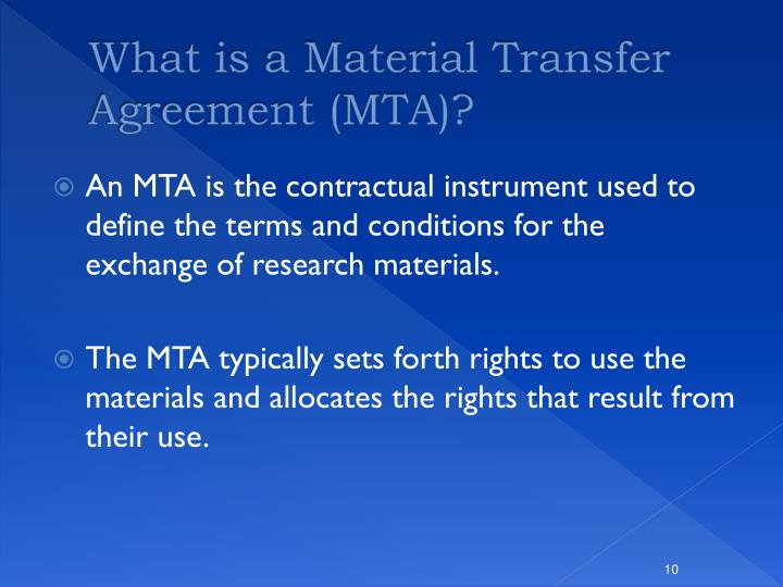 Ppt The Importance Of Material Transfer And Confidential