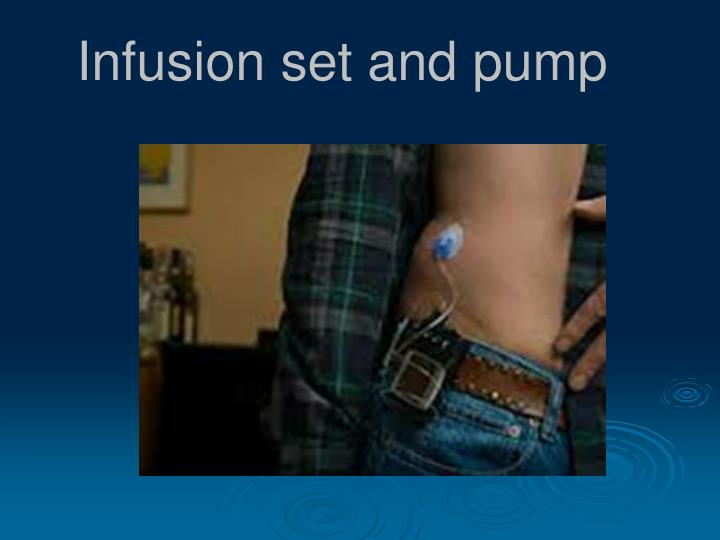 Infusion set and pump