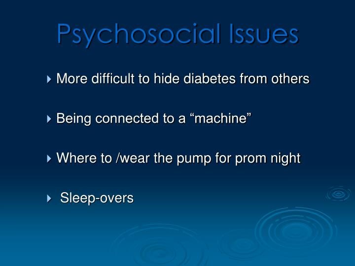 Psychosocial Issues