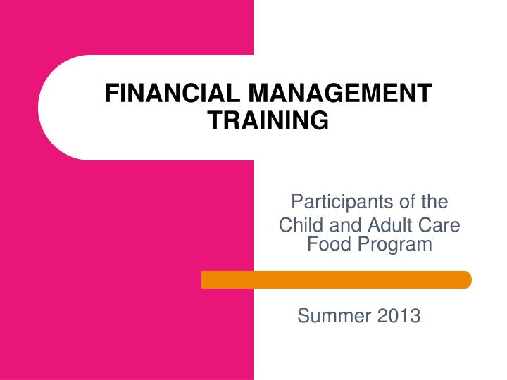 financial management training n.