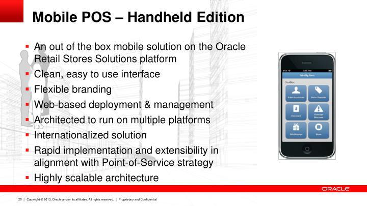 Mobile POS – Handheld Edition