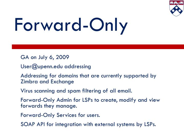 Forward-Only