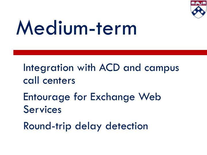 Medium-term