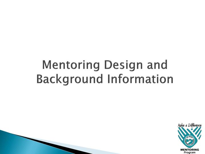 Mentoring Design and