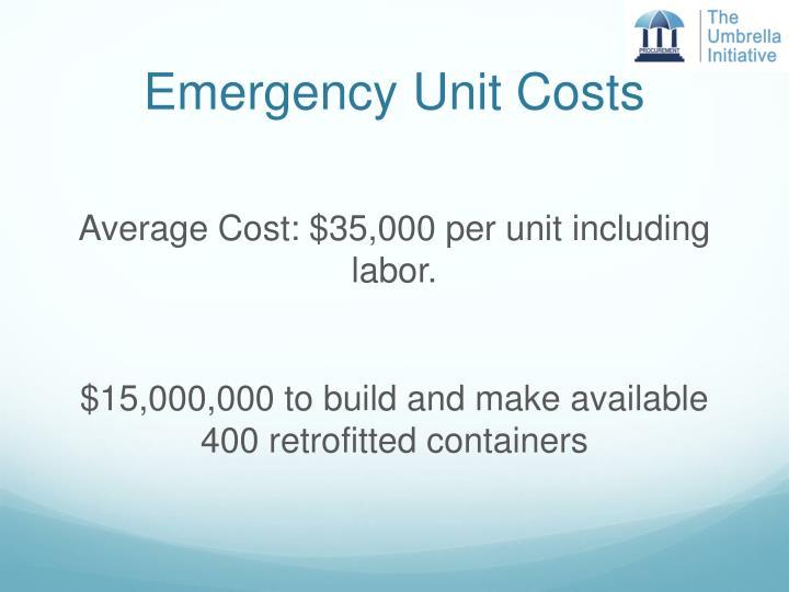 Emergency Unit Costs