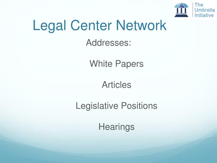 Legal Center Network