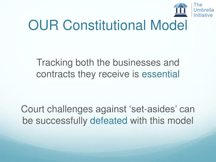 OUR Constitutional Model