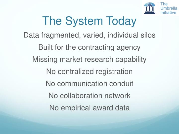 The System Today