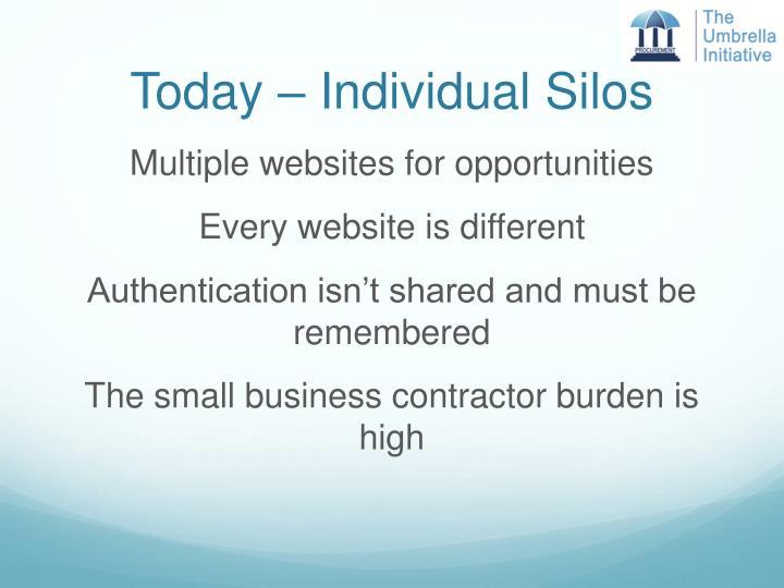 Today – Individual Silos