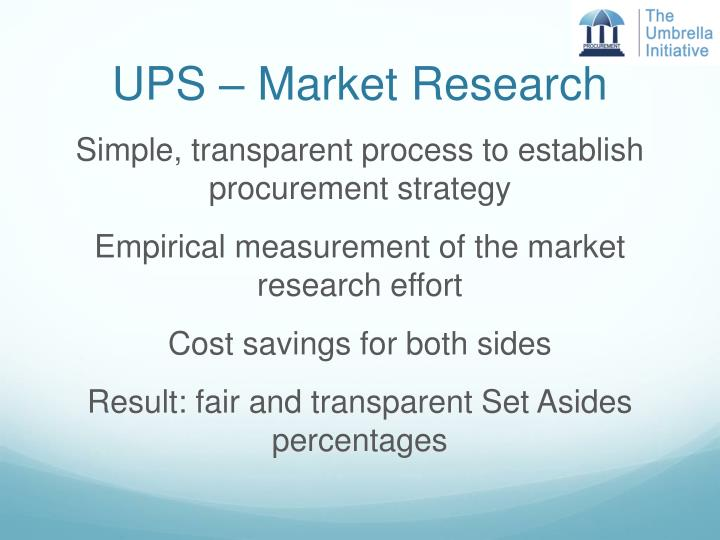 UPS – Market Research