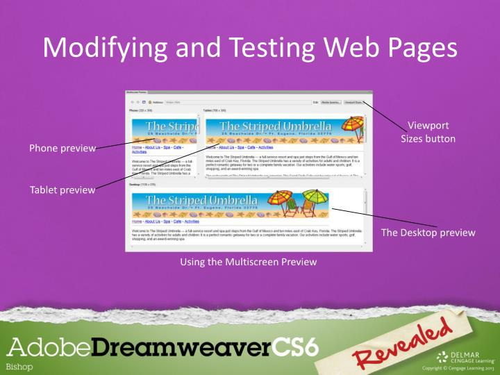 Modifying and Testing Web Pages