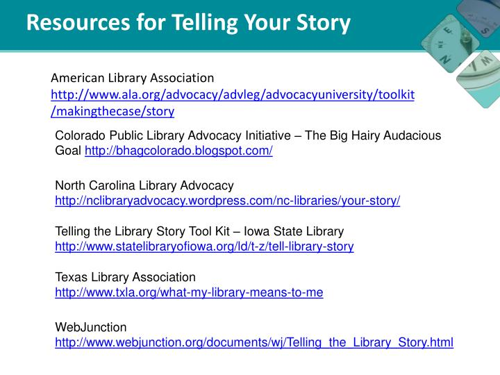 Resources for Telling Your Story