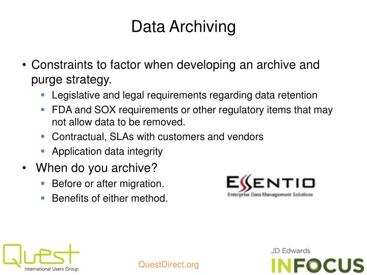 Data Archiving