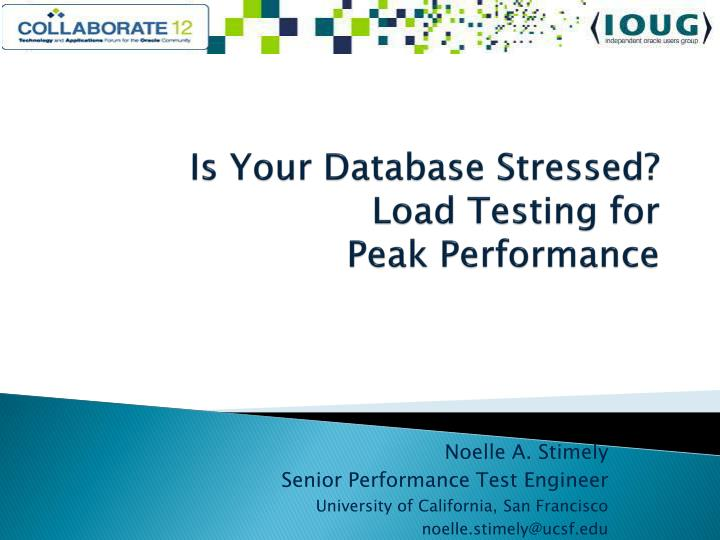 is your database stressed load testing for peak performance n.