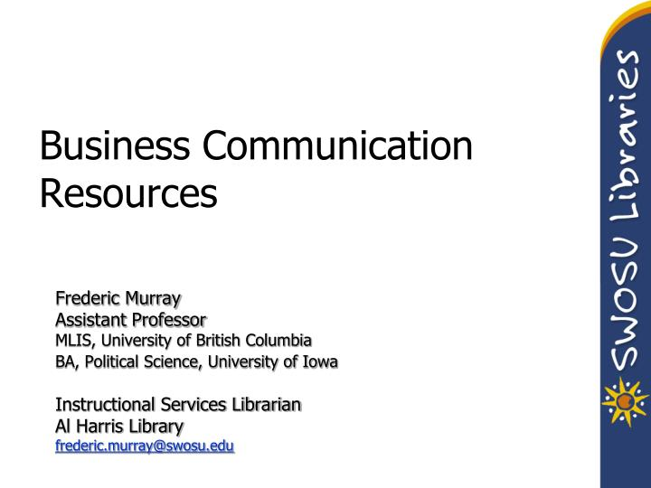 business communication resources n.