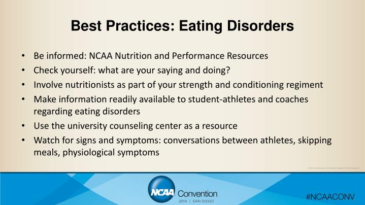Best Practices: Eating Disorders