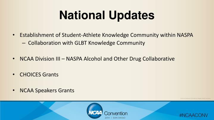 National Updates