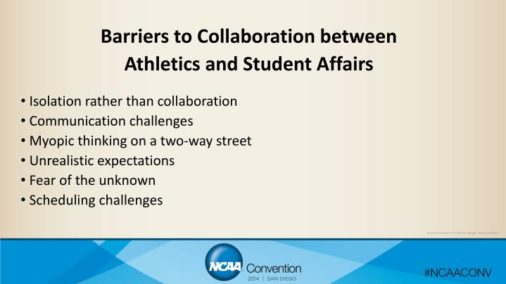Barriers to Collaboration between