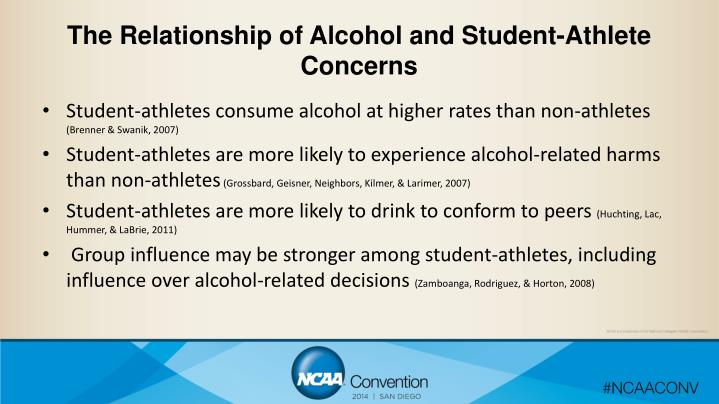 The Relationship of Alcohol and Student-Athlete Concerns