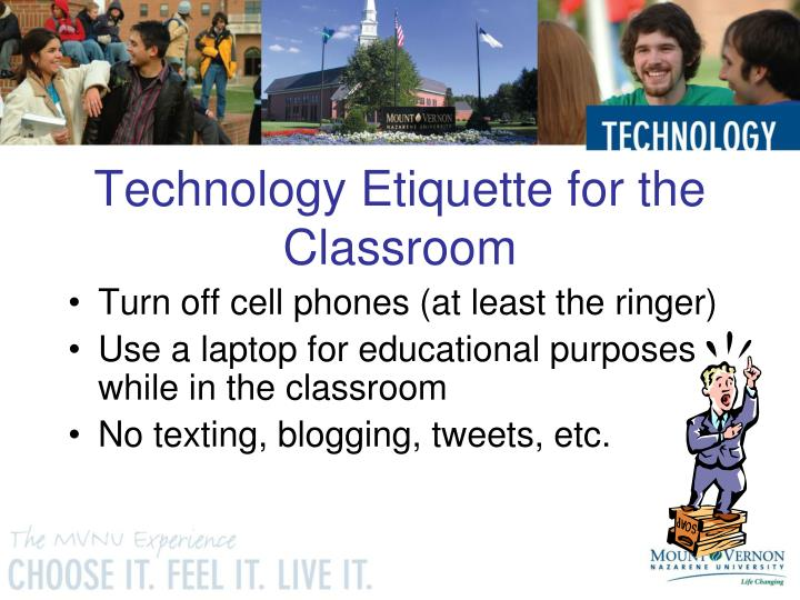 Technology etiquette for the classroom