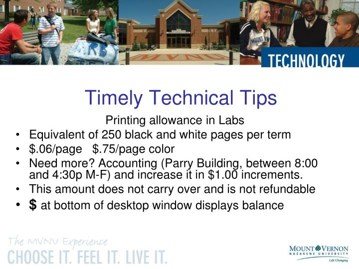 Timely Technical Tips