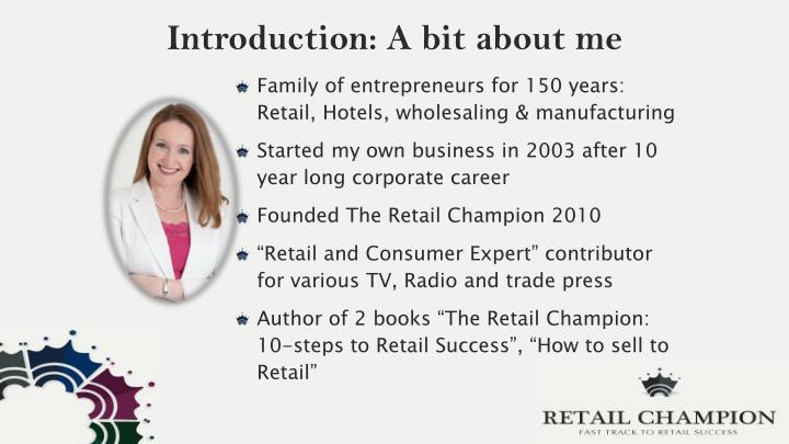 Introduction: A bit about me