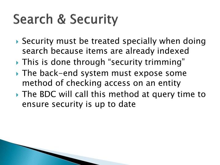 Search & Security