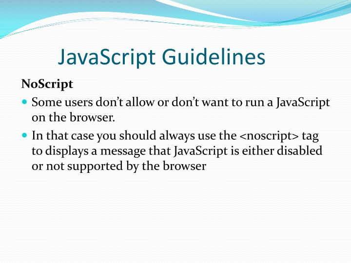 JavaScript Guidelines