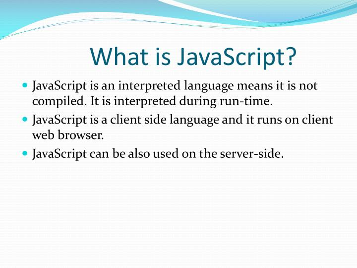 What is javascript1