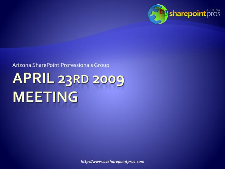 arizona sharepoint professionals group