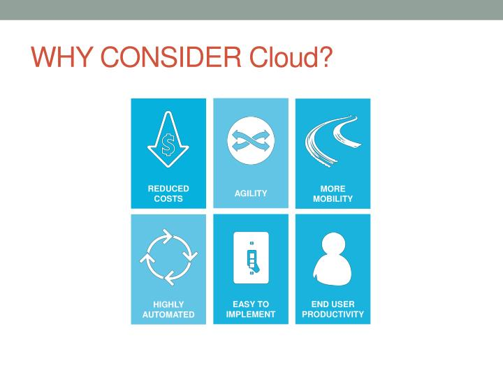 WHY CONSIDER Cloud?