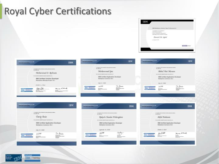 Royal Cyber Certifications